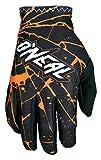 O'Neal Matrix Handschuhe Enigma Schwarz Orange MX MTB DH Motocross Enduro Offroad, 0388M-3, Größe M
