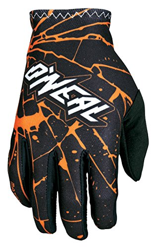 O'Neal Matrix Handschuhe Enigma Schwarz Orange MX MTB DH Motocross Enduro Offroad, 0388M-3, Größe S