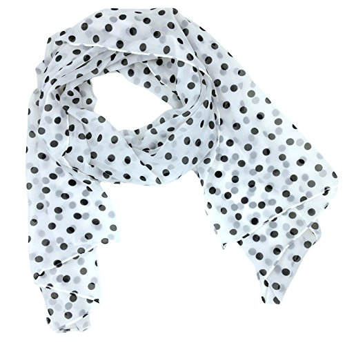 4e476ea70 Tapp Collections Fashionable Polka Dots Soft Chiffon Scarf - White - Buy  Online in Oman. | Apparel Products in Oman - See Prices, Reviews and Free  Delivery ...