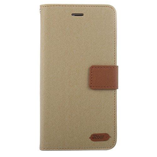 Phone case & Hülle Für iPhone 6 Plus / 6S Plus, Brüllen Streifen Textur Leder Tasche mit Halter & Card Slot & Wallet ( Color : Purple ) Brown