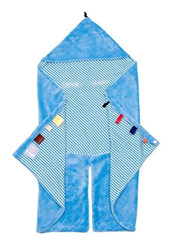 Snoozebaby Couverture Nomade Tendance Bleu Ciel 80 x 80 cm