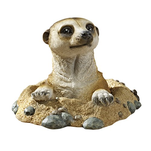 Design Toscano Kalahari-Erdmännchen-Figuren, Maße: 21,5 x 10 x 16,5 cm