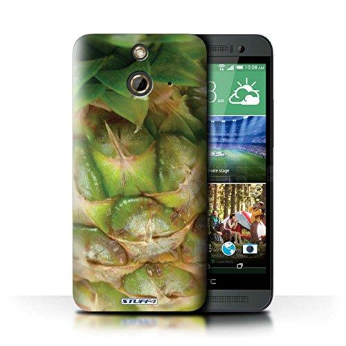 Kobalt® Imprimé Etui / Coque pour HTC One/1 E8 / Raisin conception / Série Fruits Ananas