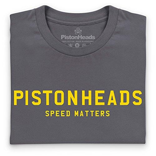 PistonHeads Speed Matters Iconic T-Shirt, Herren Anthrazit