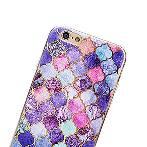 Dikals custodia La PROGETTAZIONE DI linee di Colore classicoper il iPhone SE, per il iPhone 5S,Bianco Viola