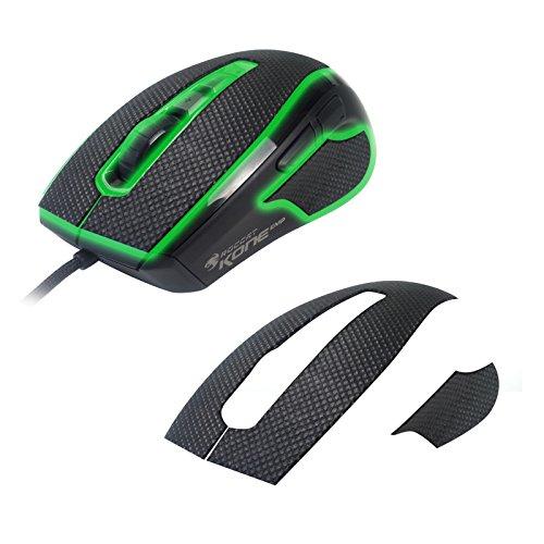 emp aufkleber SensoryBoost Computer Gaming Maus Aufkleber (Schwarz) für Roccat Kone EMP