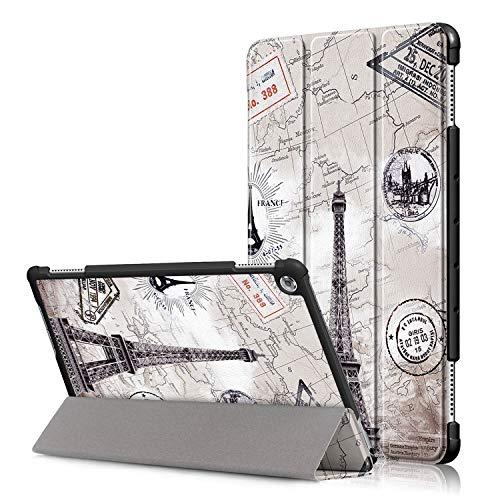12 - TenYll Huawei MediaPad M5 Lite Funda, Chasis portátil [Ultra-Delgado] [Ultra-Ligero] Smart Tablet PC Holder para Huawei MediaPad M5 Lite Tableta
