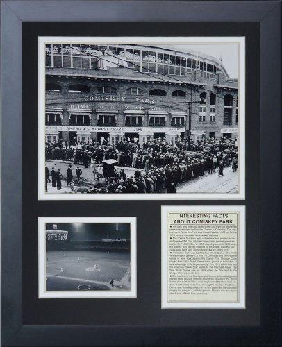 Legenden Sterben Nie 1913Comiskey Park gerahmtes Foto Collage, 11x 35,6cm - Comiskey Park