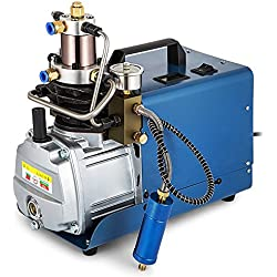TOPQSC Compresseur d'air électrique de pompe à air de fusil de système à haute pression de 300BAR 30MPA 4500PSI, gonfleur de PCP pour le d'arme à feu Approprié aux aux pneus de bicyclette