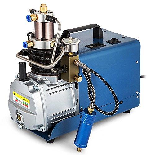 InLoveArts Hochdrucksystem Gewehr Luftpumpe Einstellbare Blau 7, 300BAR 30MPA 4500PSI Elektrische Luftkompressor für Luftgewehr Gewehr PCP Inflator Geeignet für Motorräder und Fahrradreifen