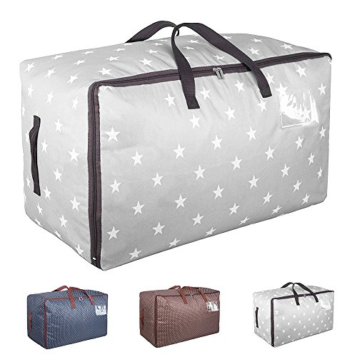 Aufbewahrungstasche für Bettdecken Oxford Tasche Verstauen Kissen Trage-Tasche für Bettzeug oder...