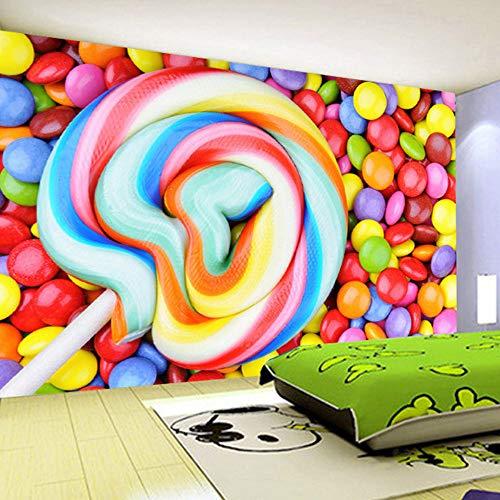 t Irgendeine Größe Farbe Süßigkeiten Lutscher Vliestapete Kinderzimmer Schlafzimmer Dekoration Malerei Wandbild Tapete Kinder ()