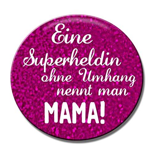 Polarkind Button Anstecker Pin Superheldin Mama Geschenk zur Geburt Schwangerschaft Muttertag Babyparty Spruch 38mm