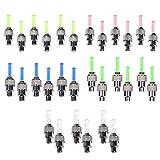 Stonges - Bouchons de valve de pneu à LED clignotants pour voiture, vélo, mobylette et moto (rouge, jaune, bleu, vert et variable), Blue/Green/Red/Yellow