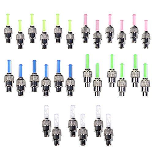 Stonges - confezione da 30luci LED, per ruote, tappini, biciclette (rosso, giallo, blu, verde, colorato)