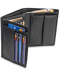 """TRAVANDO ® Portafoglio Uomo""""RIGA"""" - 11 Tasche per la Carte - Protezione RFID - Formato Verticale - Regalo perfetto per gli Uomini - Confezione Regalo - Designed in Germany"""