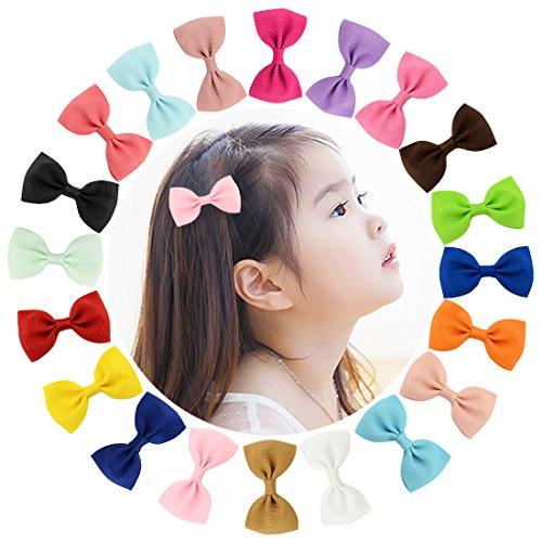 Txian, forcine per capelli in 20 pezzi, con fiocchi, spille, fermagli per capelli per bambine