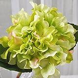 ShiQi Fiori artificiali rami corti sfera bouquet nuziale salotto verde floreali per matrimoni Festival decorazione per banchetti