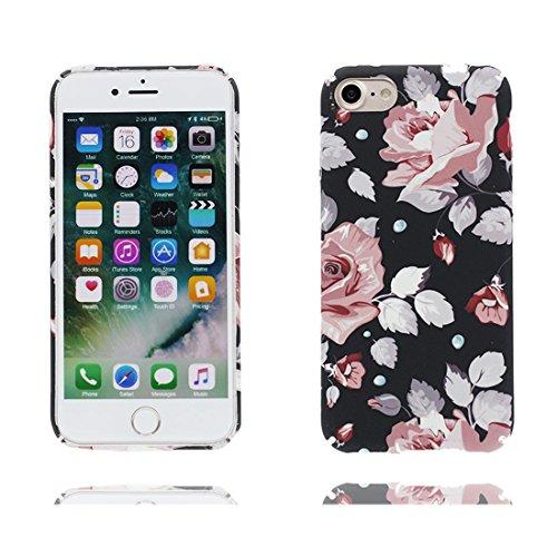 iPhone 7 Custodia Case, iPhone 7 Copertura 4.7, Disegno unico del materiale di TPU Cartoon Stylish Durable Indietro Cover, Graffi Resistenza agli urti # Fiore Multiflora Rose Color 3