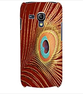 ColourCraft Peacock Feather Design Back Case Cover for SAMSUNG GALAXY S3 MINI I8190