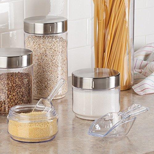 comprare on line InterDesign Basic Sessola per dosare, Piccolo mestolo da cucina in plastica, Set da 8 palette multiuso, trasparente prezzo