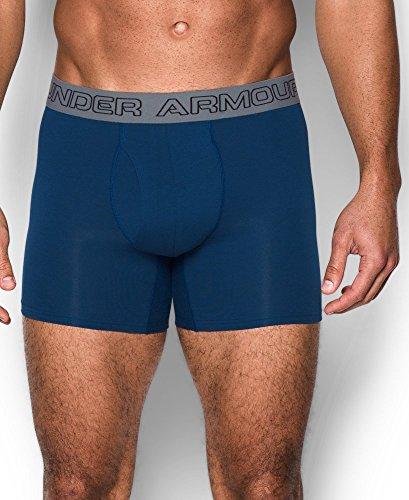 Under Armour Herren Unterhose Cotton Stretch 6'' 3 Pack Navy/Cardinal/Carbon