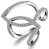 Skyllc® Moda versión Europa circón anillo de apertura de alto grado