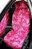 Smart Girly Pink Camouflage Wasserdicht Vordersitzbezüge City CROSSBLADE FORFOUR FORTWO ROADSTER