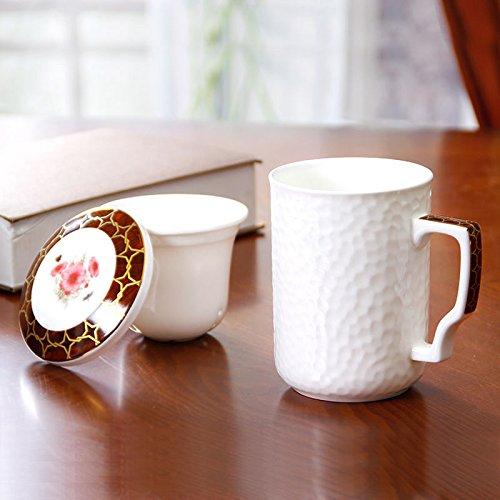 HONGYUANZHANG Kaffee Tassen Tassen Kaffeetassen Keramik Tassen (450 Ml).