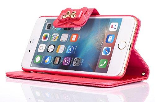 Voguecase Pour Apple iPhone 7 4,7 Coque, Étui en cuir synthétique chic avec fonction support pratique pour Apple iPhone 7 4,7 (Arc-Pink)de Gratuit stylet l'écran aléatoire universelle Arc-Rose
