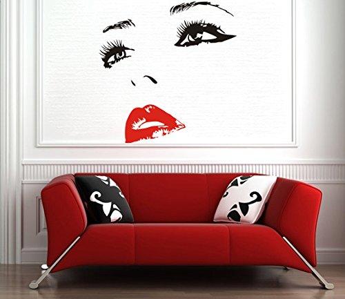 50 x 49 cm mujer cara vinilo adhesivo decorativo pared