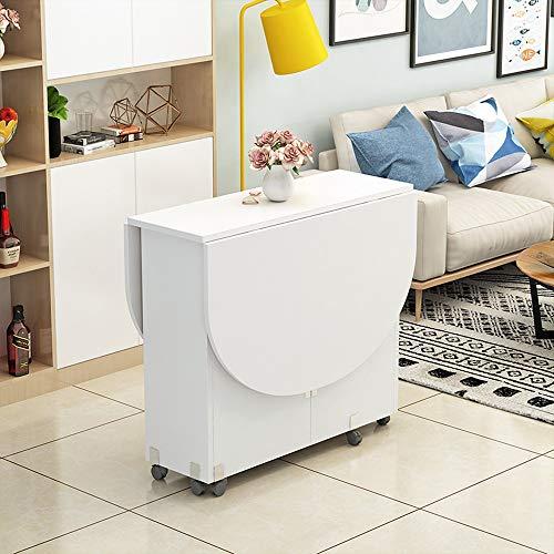 XIAOPING Klapptisch Moderne kleine Wohnung Klapptisch Hause Runde ovale Esszimmer Wohnzimmer 8 Farben (Color : G) -