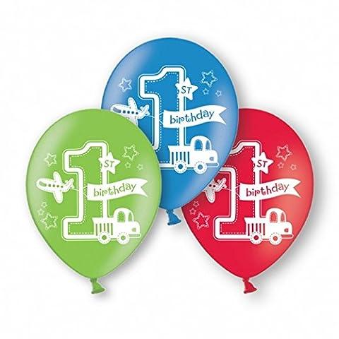 Amscan 1st Birthday Boy Latex-Ballons, 6er-Pack (Einheitsgröße)