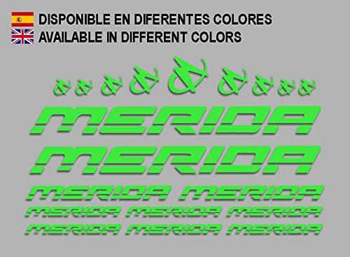 Ecoshirt LK-PDU3-SU9X Aufkleber Merida Frame Set Bikes F150 Stickers Aufkleber Decals Autocollants Adesivi MTB BTT, Grün