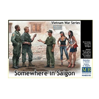 Master Box mb35185 Figuras Somewhere en Saigon, Vietnam War Series, Juego