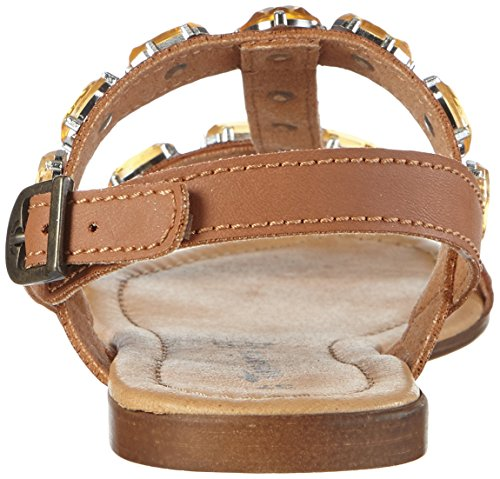 Tamaris - 28159, Scarpe col tacco con cinturino a T Donna Beige (Beige (NATURE 318))
