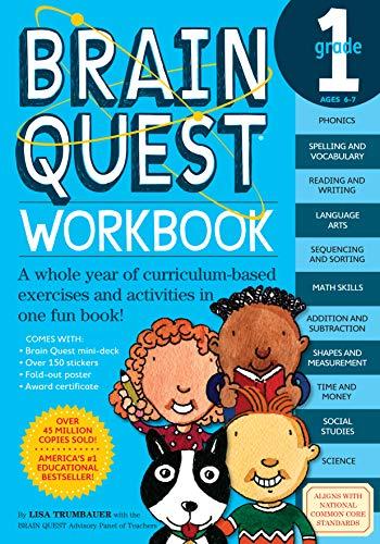 Brain Quest Grade 1 Workbook (Grade 4 Brain Workbook Quest)