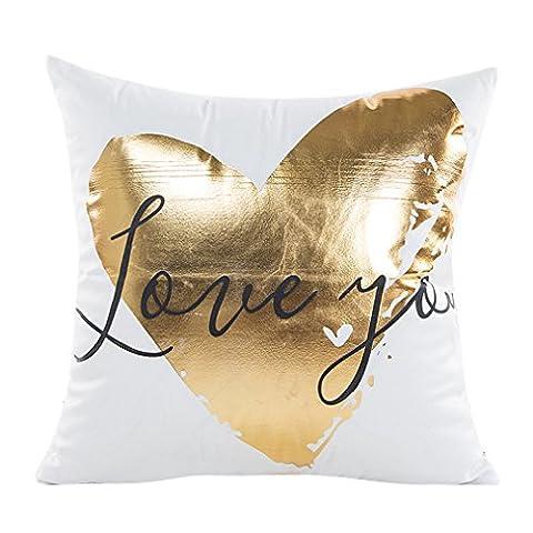Vovotrade Art und Weise Goldfolie Drucken-Kissen Kasten Sofa Taillen Wurf