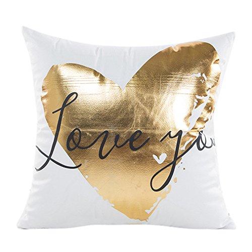 Vovotrade Art und Weise Goldfolie Drucken-Kissen Kasten Sofa Taillen Wurf Kissen Abdeckungs Ausgangsdekor (G) (Herr Und Frau Wurf-kissen-abdeckungen)