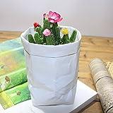 OSYARD Waschbare Recycelbare Kraftpapier-Tüte für Pflanzen, Blumen, Multifunktionsbeutel Home Aufbewahrungstasche Aufbewahrungskörbe, 12 x 12 x 23 cm