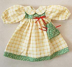 Sturm 8845-0 - Vestido de Primavera con Bolsillo para muñecas, Color Amarillo y Verde