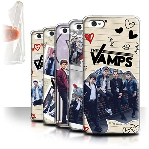 Offiziell The Vamps Hülle / Gel TPU Case für Apple iPhone 5C / Pack 5Pcs Muster / The Vamps Doodle Buch Kollektion Pack 5Pcs