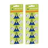 MovilCom - 20 batterie a bottone AG1 1,5 V equivalente a L621, LR621, SR621SW, V364, D364, GP364, S621E, 602, T, 280-34, SB-AG/DG, SR60, LR60, AG-1