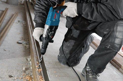 Bosch Professional GBH 2-28 DFV Bohrhammer (SDS-plus-Wechselfutter, 13 mm Schnellspannbohrfutter, bis 28 mm Bohr-Ø, Koffer) blau - 6