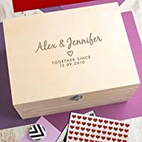 Personalised Wedding Anniversary Gift Keepsake Box / Memory Box - 3 Wooden Boxes to Choose From!