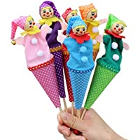 TOYMYTOY Payaso Marionetas de Dedo de Terciopelo contador de historias para niños bebés niños pequeños 6 piezas