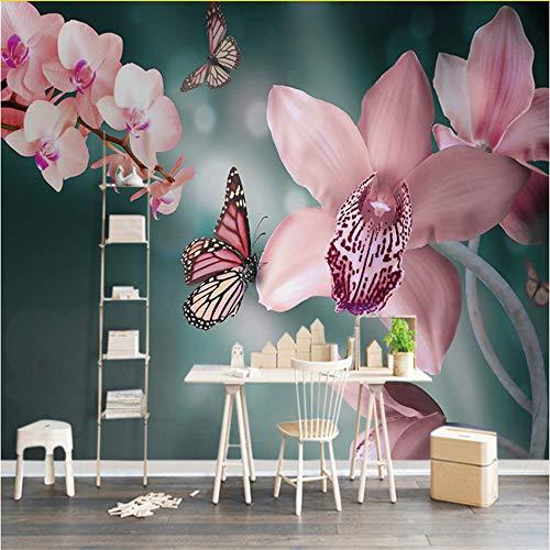 Schmetterlingsorchidee Im orangen Keramik-Gefäß