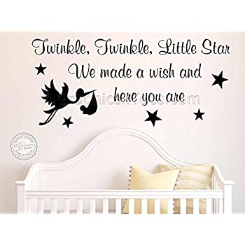 Perfect Graphics U0027nu0027 Tees   Twinkle Twinkle Little Star With Stork, Nursery Wall  Sticker Part 21