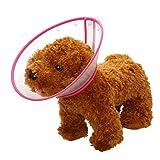 Mogoko Haustier Hund Halsbänder aus Kunststoff Bunte Punkte Halskrause Schutzkragen Kegel Krägen Besondere Schutz für Hunden (S(Halsumfang:15-19cm), Rosa)