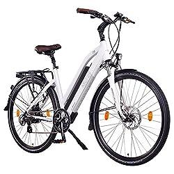 "NCM Milano 48V, 28"" Zoll Damen & Herren Urban E-Bike Elektrofahrrad Pedelec, 250W Das-Kit Heckmotor, 13Ah 624Wh Li-Ion Zellen Akku, mechanische Scheibenbremsen, 7 Gang Schaltung, weiß"